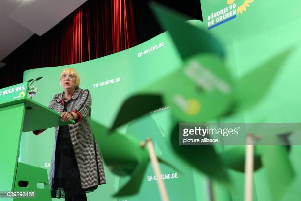 National chairman of the Greens Claudia Roth talks during a regional party conference of Alliance 90/The Greens in Eckernfoerde Germany 16 March 2013...
