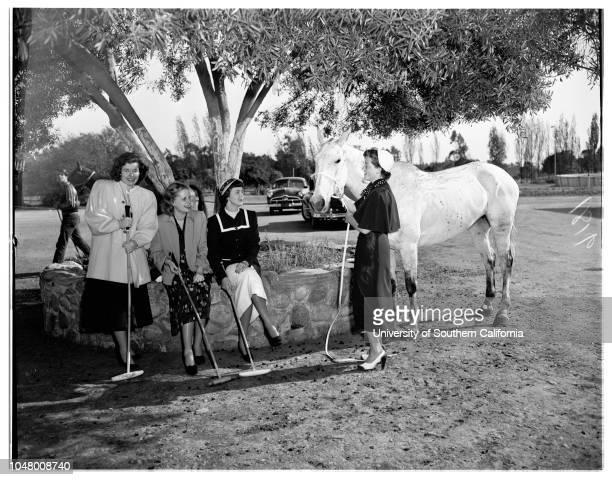 National Charity League May 6 1951 SocietyMargaret Ann FutchMitzi DollBetty IngeMary Anne CarterDiane HuntingtonDora Lee CallPat BrownDana...