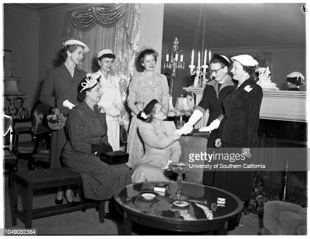 National Charity League officers 1 May 1952 Mrs Ernest DolleyMrs Karl GeiserMrs Forrest LillyMrs Victor HorningMrs Marcus McClureMrs Robert...