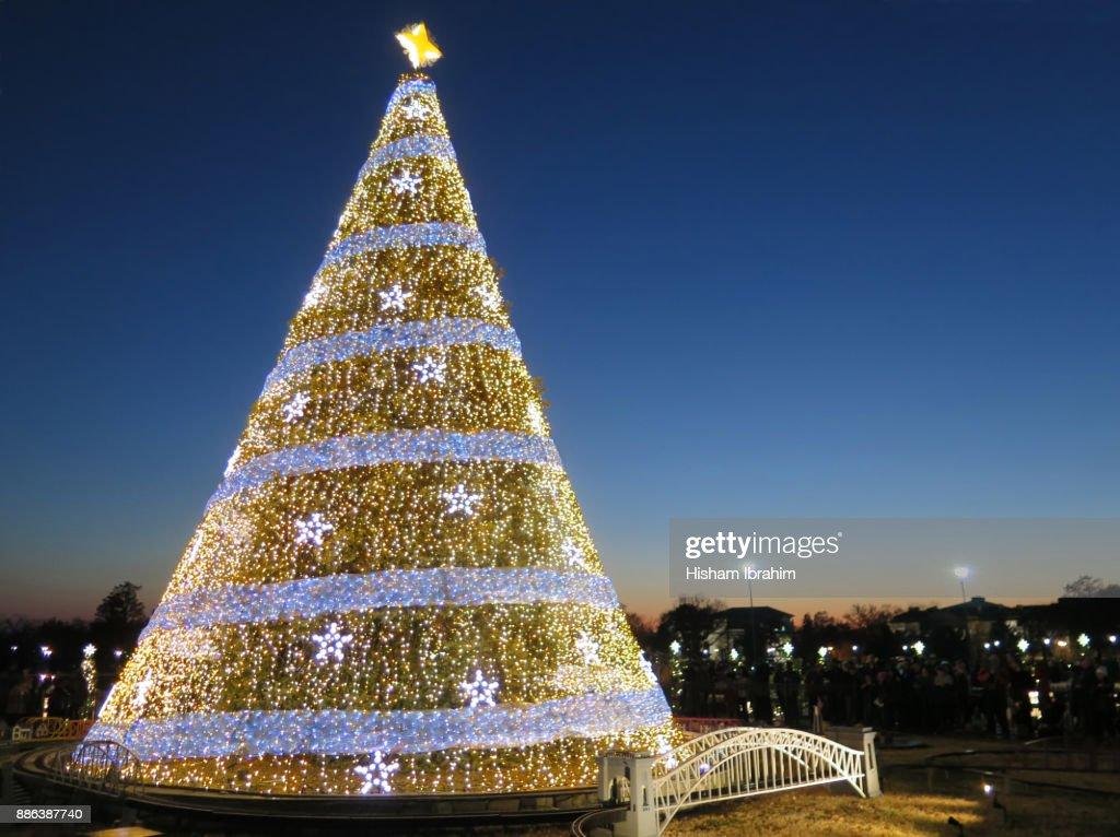 Washington Dc Christmas.National Christmas Tree Washington Dc Usa Stock Photo