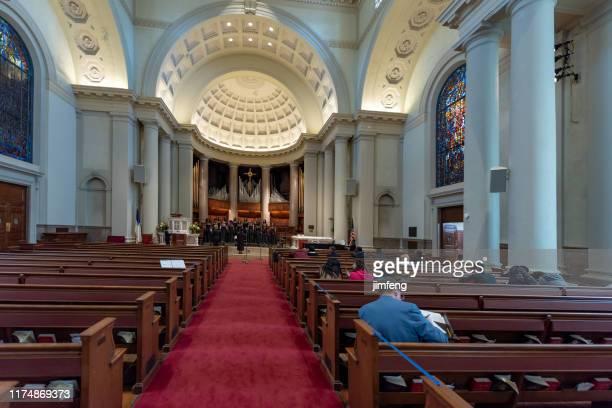 ワシントンdcの国立都市キリスト教会の建物,アメリカ合衆国 - 新古典派 ストックフォトと画像