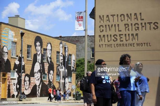 national civil rights museum - lorraine motel stock pictures, royalty-free photos & images