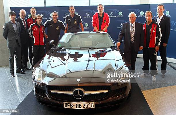 National coach Joachim Loew, Dieter Zetsche, chairman of the board of Mercedes-Benz, Manuel Neuer, Philipp Lahm, Lukas Podolski, Miroslav Klose,...