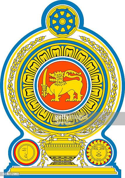 National coat of arms of the Democratic Socialist Republic of Sri Lanka