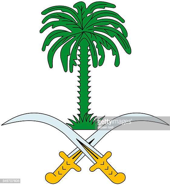National coat of arms of the Kingdom Saudi Arabia