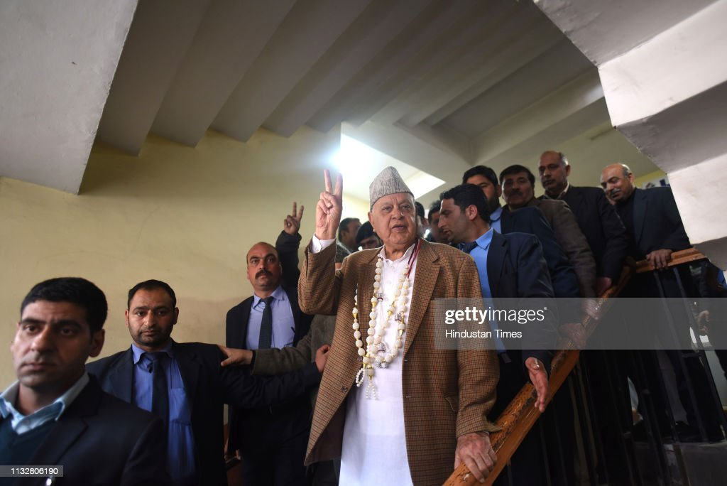 IND: National Conference President Farooq Abdullah Files Nomination Papers For The Lok Sabha Polls