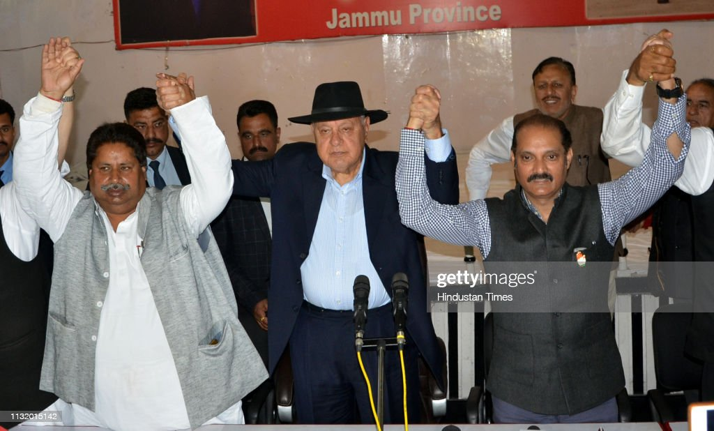 IND: Press Conference Of National Conference President Farooq Abdullah Over Pre-Poll Alliance With Congress