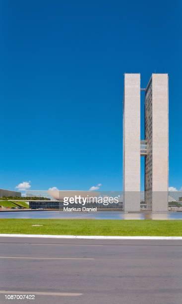 "national congress building (congresso nacional) in brasilia - ""markus daniel"" stock pictures, royalty-free photos & images"