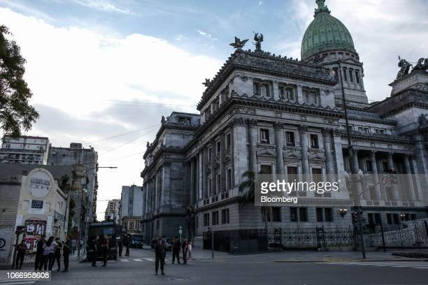 National Congress building stands during the G20 Leaders' Summit in Buenos Aires Argentina on Friday Nov 30 2018 The meeting comes against the...