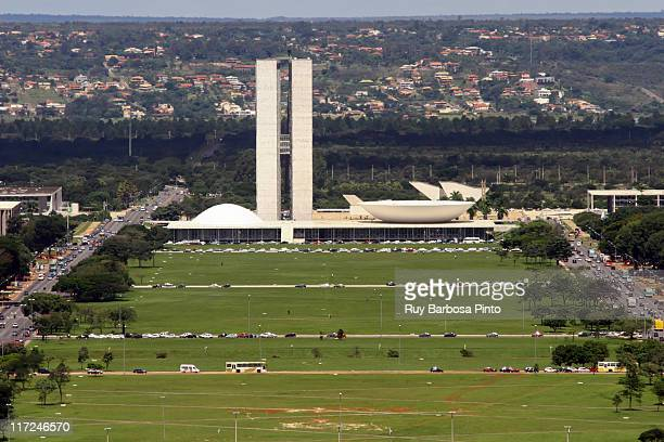 national congress of brazil - brasilia stock pictures, royalty-free photos & images