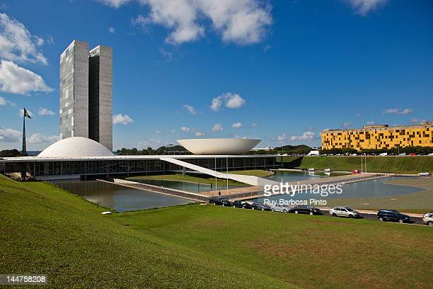 national congress of brazil - distrito federal brasilia stock pictures, royalty-free photos & images