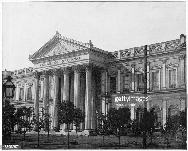 National Congress Santiago Chile late 19th century Photograph from Portfolio of Photographs of Famous Scenes Cities and Paintings by John L Stoddard...