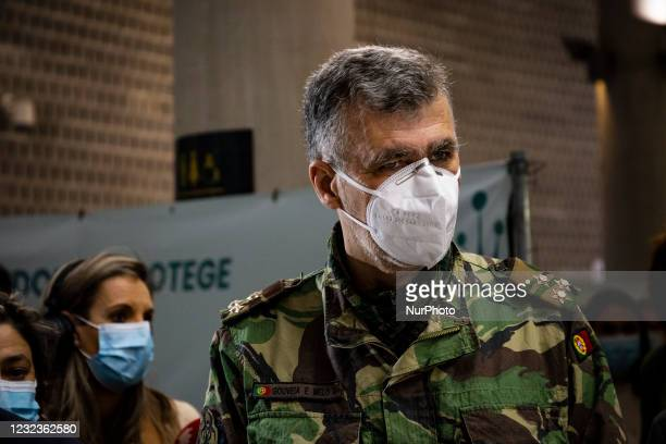 National Coordinator of the Task Force for the vaccination plan against covid-19 in Portugal, Vice-Admiral Henrique de Gouveia makes a visit to the...