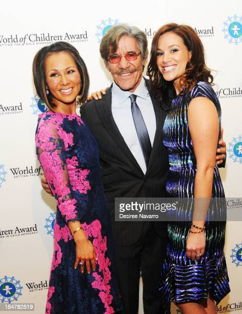 CNN National Correspondent Alina Cho TV Journalist Geraldo Rivera and wife Erica attend the 15th Annual World Of Children Awards Ceremony at 583 Park...