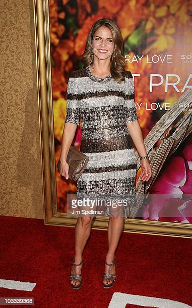 National Correspondent Natalie Morales attends the premiere of Eat Pray Love at the Ziegfeld Theatre on August 10 2010 in New York City