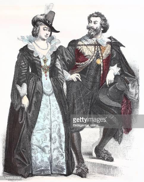 National costume, clothes, history of the costumes, distinguished Dutchmen, in 1600-1635, Volkstracht, Kleidung, Geschichte der Kostüme, vornehme...