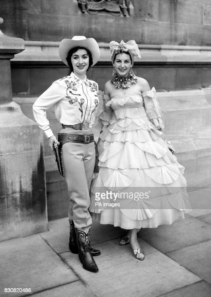 'National costume will be worn' was the order So Miss USA 24yearold Loretta Powell chose the Western variety when with other entrants in the Miss...