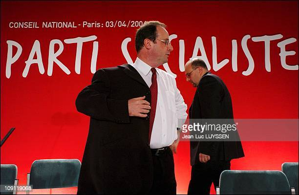 National Council Of Socialist Party After The Victory Of The Regional Elections On April 3 2004 In Paris France The Twenty Socialist Presidents Of...