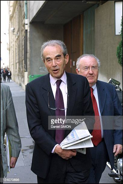 National council of Socialist Party In Paris France On April 23 2002 Robert Badinter
