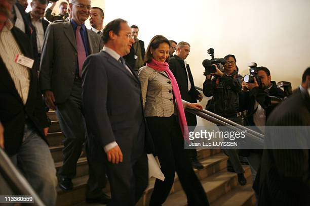 National Council Of The Socialist Party At The 'Maison De La Mutualite' In Paris France On May 12 2007 Segolene Royal and Francois Hollande