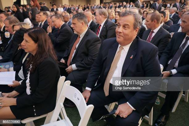 National Counterterrorism Center Director Nicholas Rasmussen New Jersey Governor Chris Christie and other guests attend the installation of Federal...