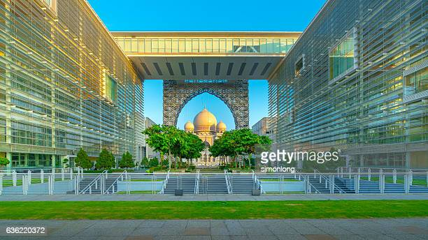 national court at putrajaya, malaysia - putrajaya stock photos and pictures