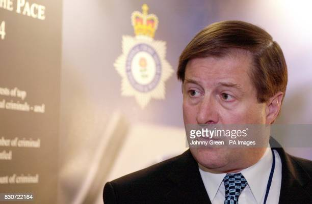National Crime Squad's Director General Bill Hughes at a press briefing for the publication of the first ever report on the Squad's work by the HM...