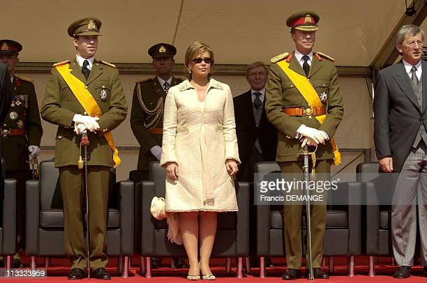 National Day In Luxembourg On June 23Rd 2006 In Luxembourg Here Military Defile In Luxembourg Prince Guillaume Grand Duchess MariaTeresa And Grand...