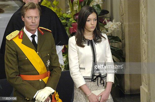 National Day In Luxembourg On June 23Rd 2006 In Luxembourg Here Solemn Te Deum In Luxembourg Cathedral Grand Duke Henri And Princess Alexandra