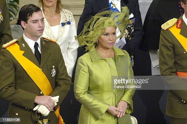 National Day In Luxembourg On June 23Rd 2006 In Luxembourg Here Solemn Te Deum In Luxembourg Cathedral Grand Duchess MariaTeresa And Prince Guillaume
