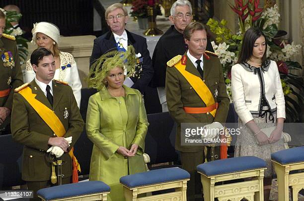 National Day In Luxembourg On June 23Rd 2006 In Luxembourg Here Solemn Te Deum In Luxembourg Cathedral Grand Duke Henry And Grand Duchess MariaTeresa...