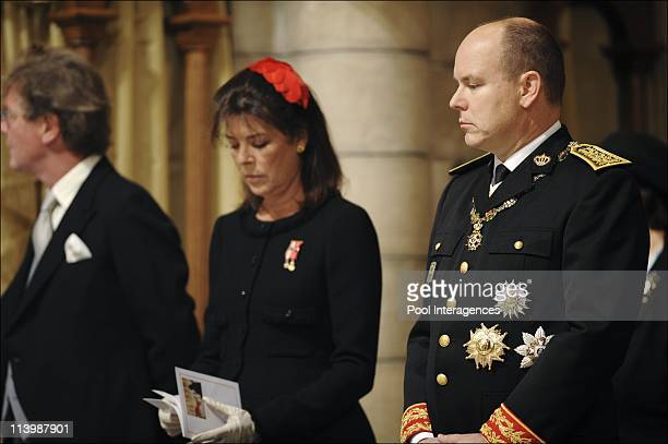 National day in Monaco Ceremony at the Cathedral In Monte Carlo Monaco On November 19 2008Ernst August of Hanover Princess Caroline of Hanover Prince...