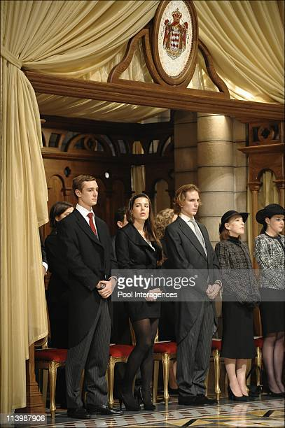 National day in Monaco Ceremony at the Cathedral In Monte Carlo Monaco On November 19 2008Pierre Casiraghi Charlotte Casiraghi Andrea Casiraghi