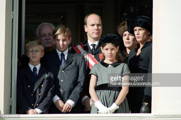 National day in Monaco City Monaco on November 19 1996 Pierre Rainier Andrea Albert Charlotte Caroline and Stephanie