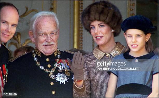 National day in Monaco City Monaco on November 19 1996 Prince Albert Prince Rainier Princess Caroline Princess Charlotte