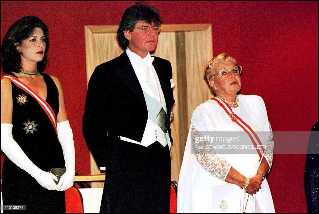 National Day In Monaco : Tribute To Rainier Iii At Monte Carlo Opera In Monaco City, Monaco On November 19, 2000. : News Photo