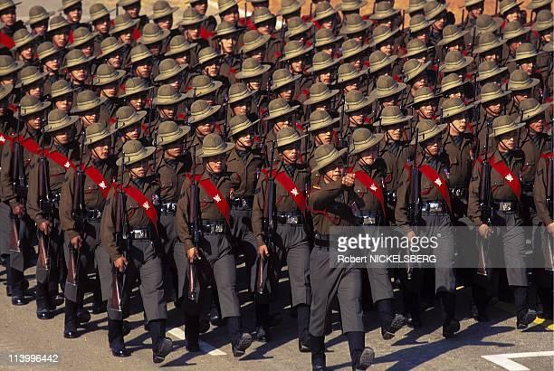 National Day In New Delhi, India On January 26, 1996-Gurkha Regiment.