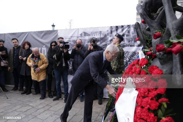 National Day of Remembrance of the Greek Jewish Witnesses and Holocaust Heroes, in Thessaloniki, Greece, on January 26. 2020.