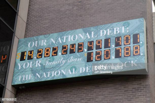 A national debt clock on Sixth Avenue of the Americas