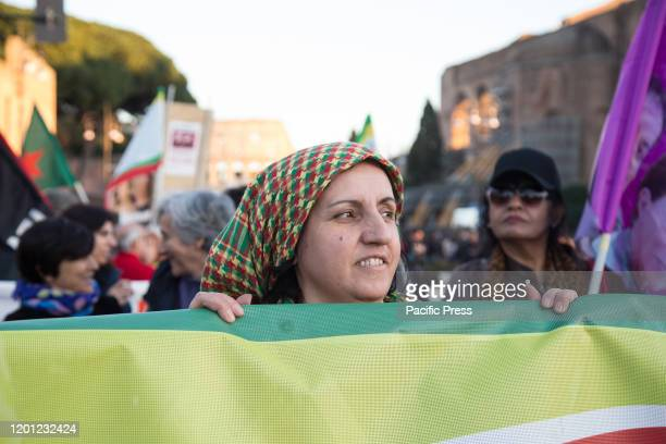 National demonstration in support of the Kurdish people in Rome for the freedom of the leader of the PKK Abdullah Ocalan and of the over 12000...