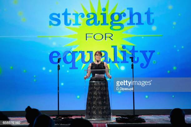 National Director of Learning and Inclusion, Jean-Marie Navetta speaks on stage during the ninth annual PFLAG National Straight for Equality Awards...