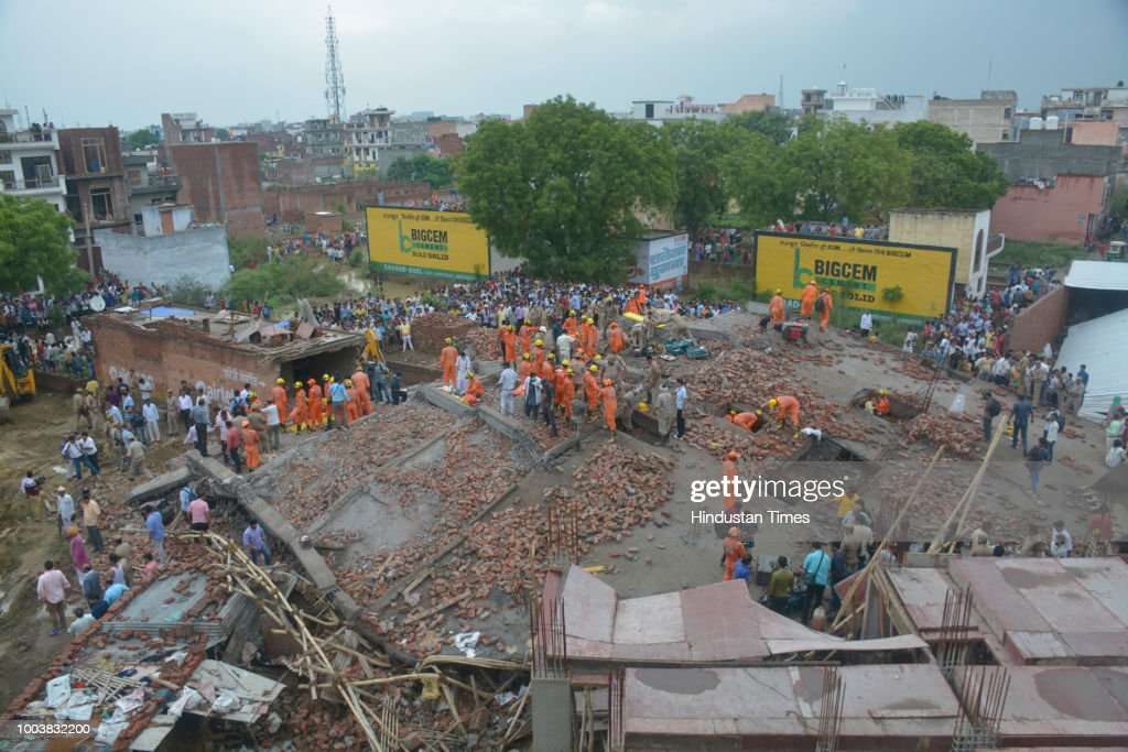 One Dead, Five Injured After Under-Construction Building Collapses In Ghaziabad