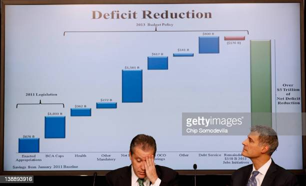 National Economic Council Director Gene Sperling and Council of Economic Advisers Chairman Alan Krueger participate in a news conference on the Obama...