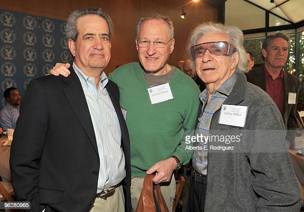 DGA National Exective Director Jay D Roth writer/director/producer Michael Mann and director Arthur Hiller attend the 62nd Annual Directors Guild Of...