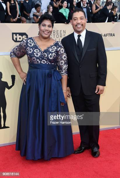 National Executive Director David White and guest attend the 24th Annual Screen Actors Guild Awards at The Shrine Auditorium on January 21 2018 in...