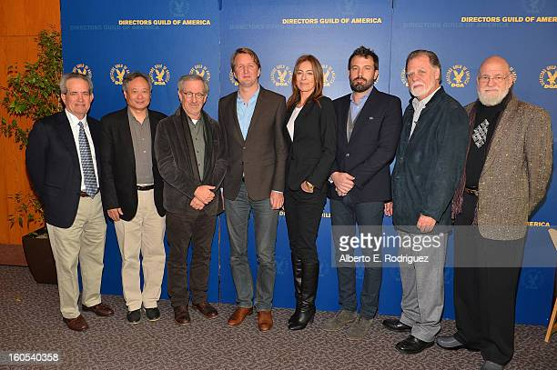 DGA National Executive Director Jay D Roth Directors Ang Lee Steven Spielberg Tom Hooper Kathryn Bigelow Ben Affleck Director/DGA President Taylor...