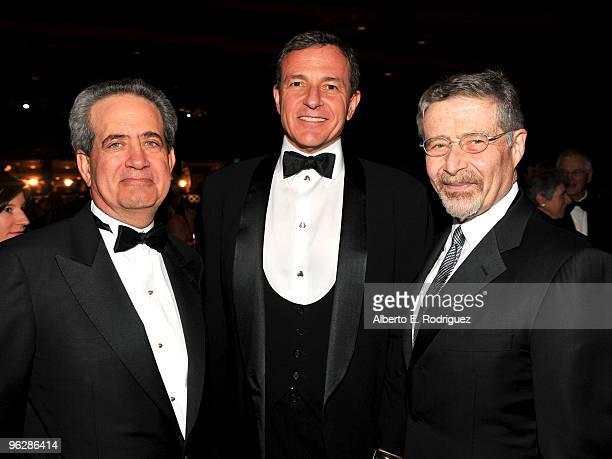 DGA National Executive Director Jay D Roth Walt Disney Company President and CEO Robert Iger and DGA Honorary Life Membership Award recipient Barry...