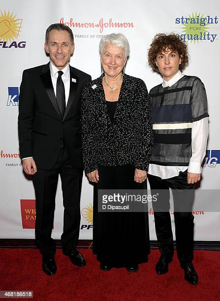 PFLAG National Executive Director Jody M Huckaby National PFLAG President Jean Hodges and producer Jill Soloway attend the 7th Annual PFLAG National...