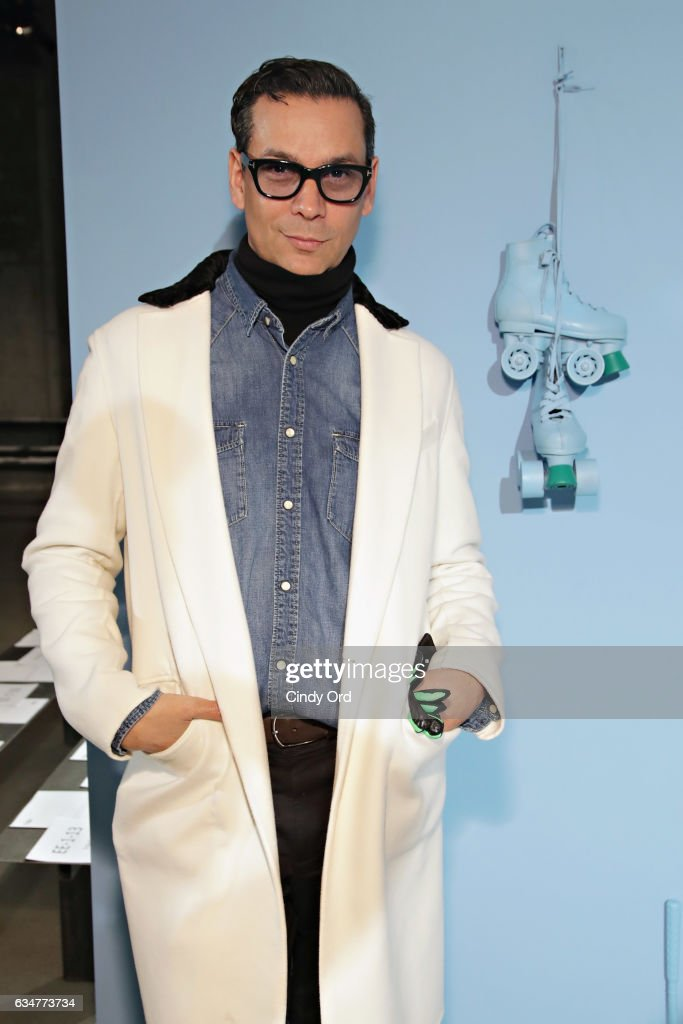 National Fashion Director, Modern Luxury Magazines, James Aguiar attends the Tibi fashion show during New York Fashion Week on February 11, 2017 in New York City.