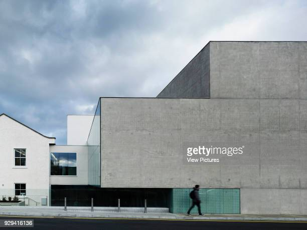 National Film School Dun Laoghaire Institute of Art Dublin Ireland Architect ABK 2013 Lateral elevation with pedestrian